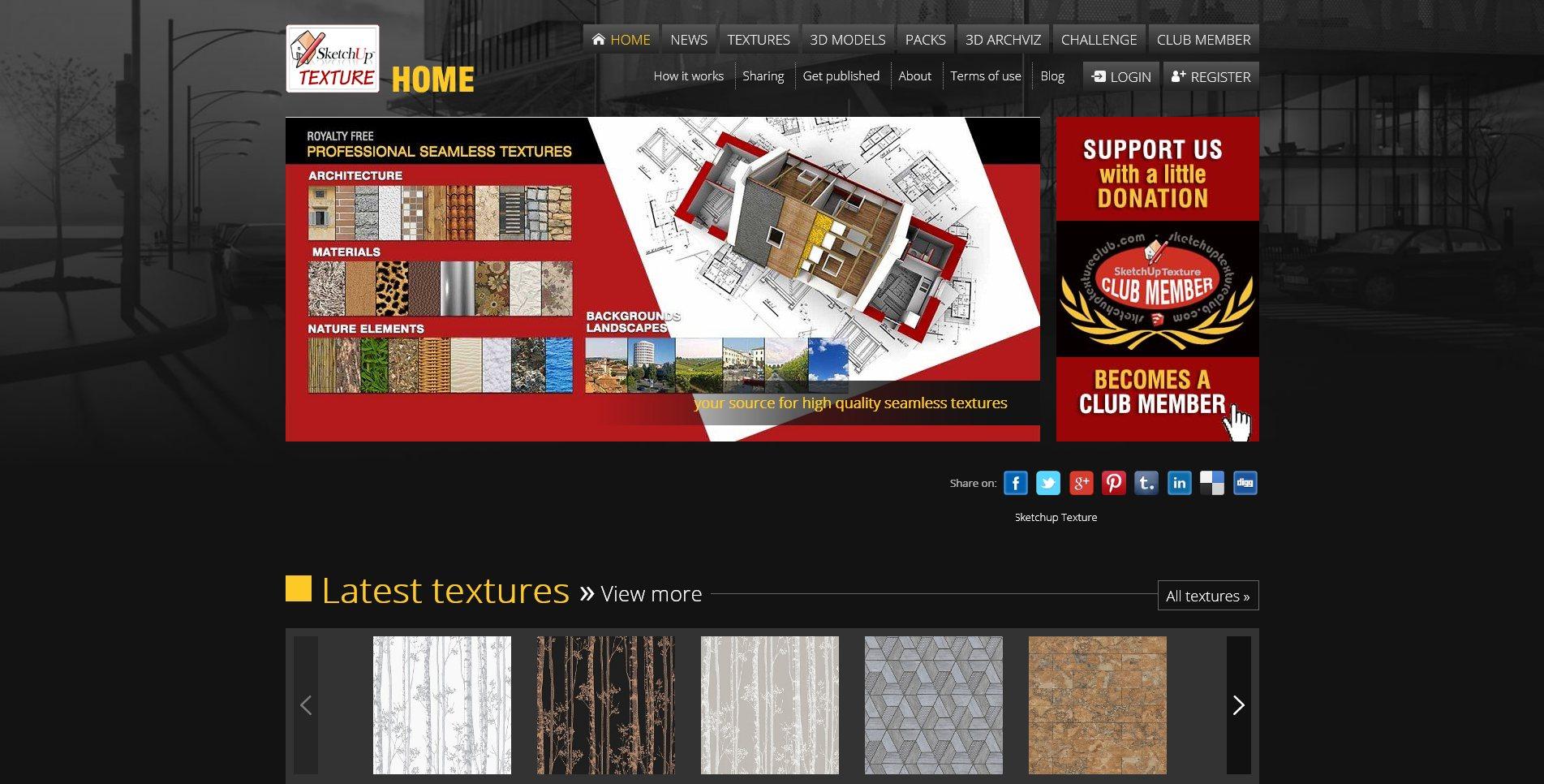 Site Screenshot Sketchup Textures