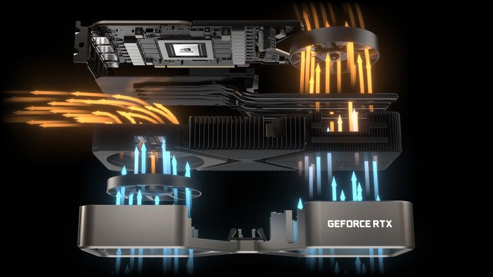 Airflow through an RTX 30 Series Graphics Card
