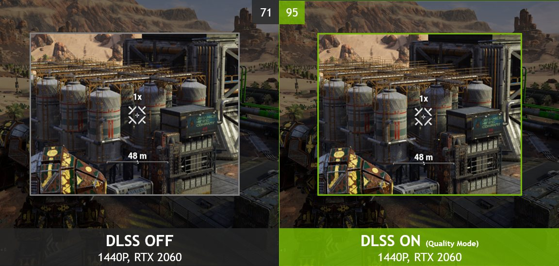 DLSS OFF vs ON comparison in Nvidia Games
