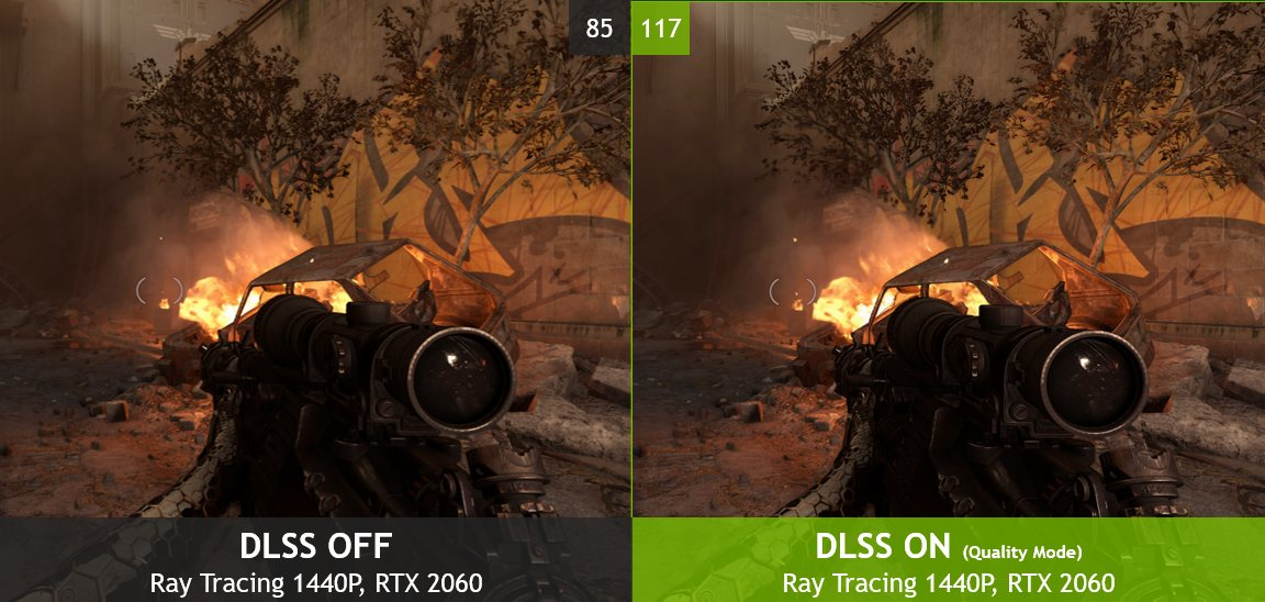 DLSS OFF vs ON comparison