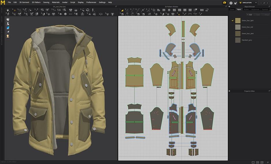 Marvelous Designer 3D Clothing Software