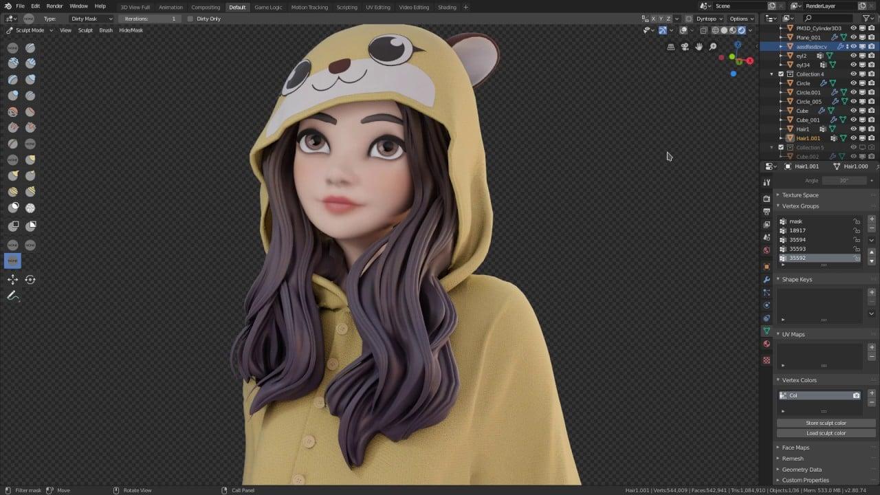 Blender 3D Scultping