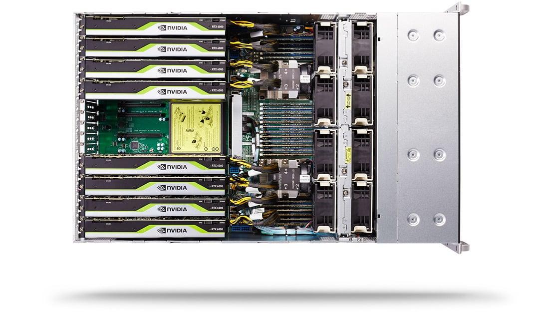 Look inside a GPU Render Server Chassis