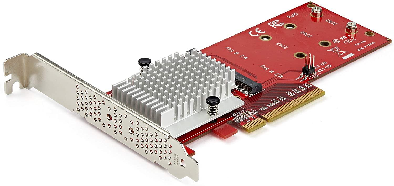 StarTech.com Dual M.2 PCIe SSD Adapter