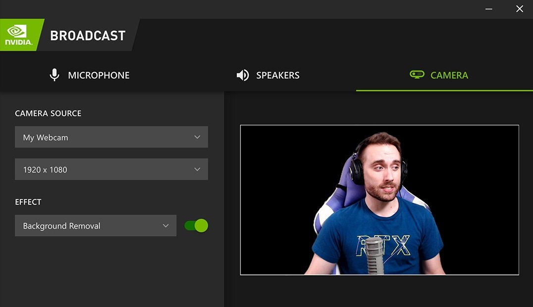 Nvidia RTX Voice - Broadcast Overview User Interface