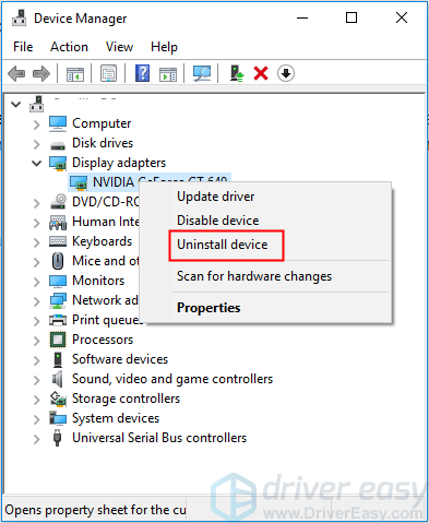 How to uninstall your Graphics Drivers (Display Adapter Driver)