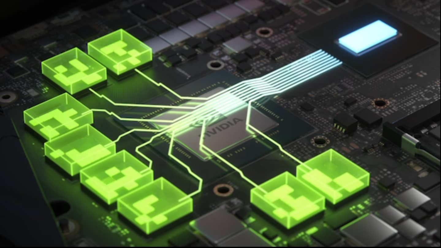 Nvidia VRAM Chips connected to the GPU
