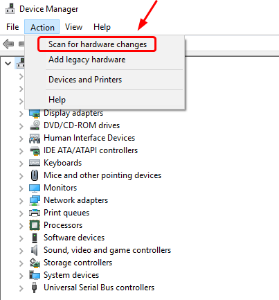 Device Manager Scan for Hardware Changes Graphics Card Driver