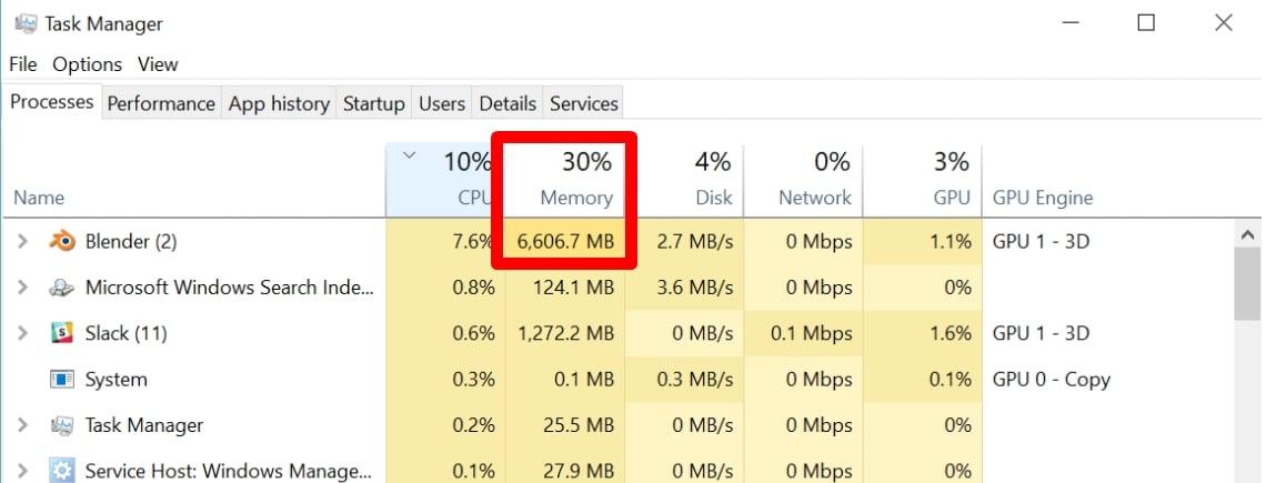 Blender RAM (Memory) Requirements