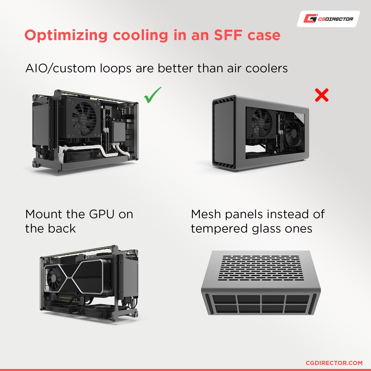 Optimizing cooling in an SFF case