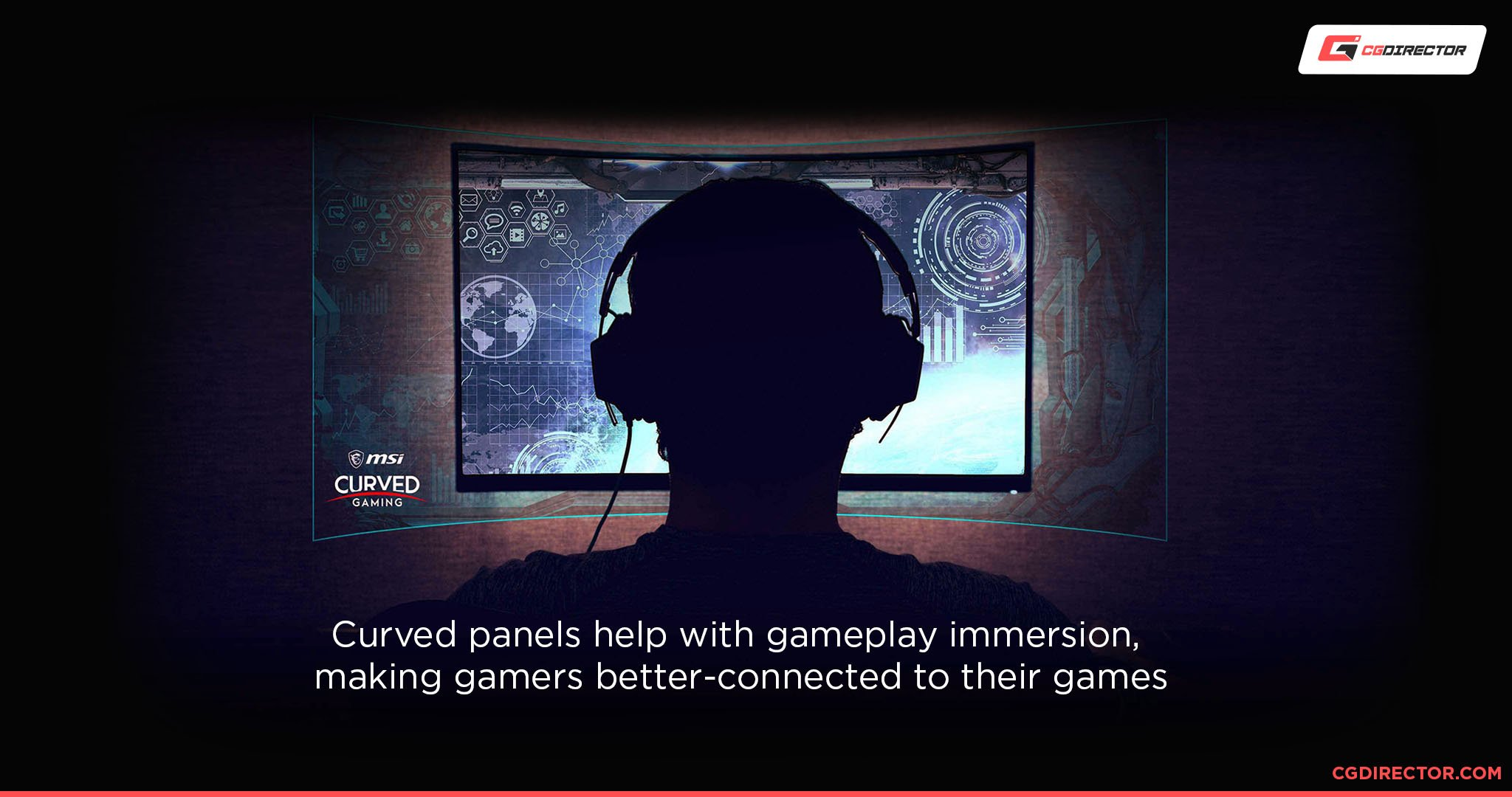 curved panels and gameplay immersion