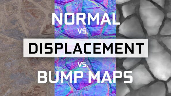 Normal vs Displacement vs Bump Maps: Differences and when to use which