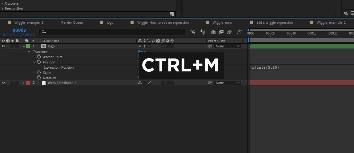 Use a keyboard shortcut to add y composition to the After Effects Render Queue