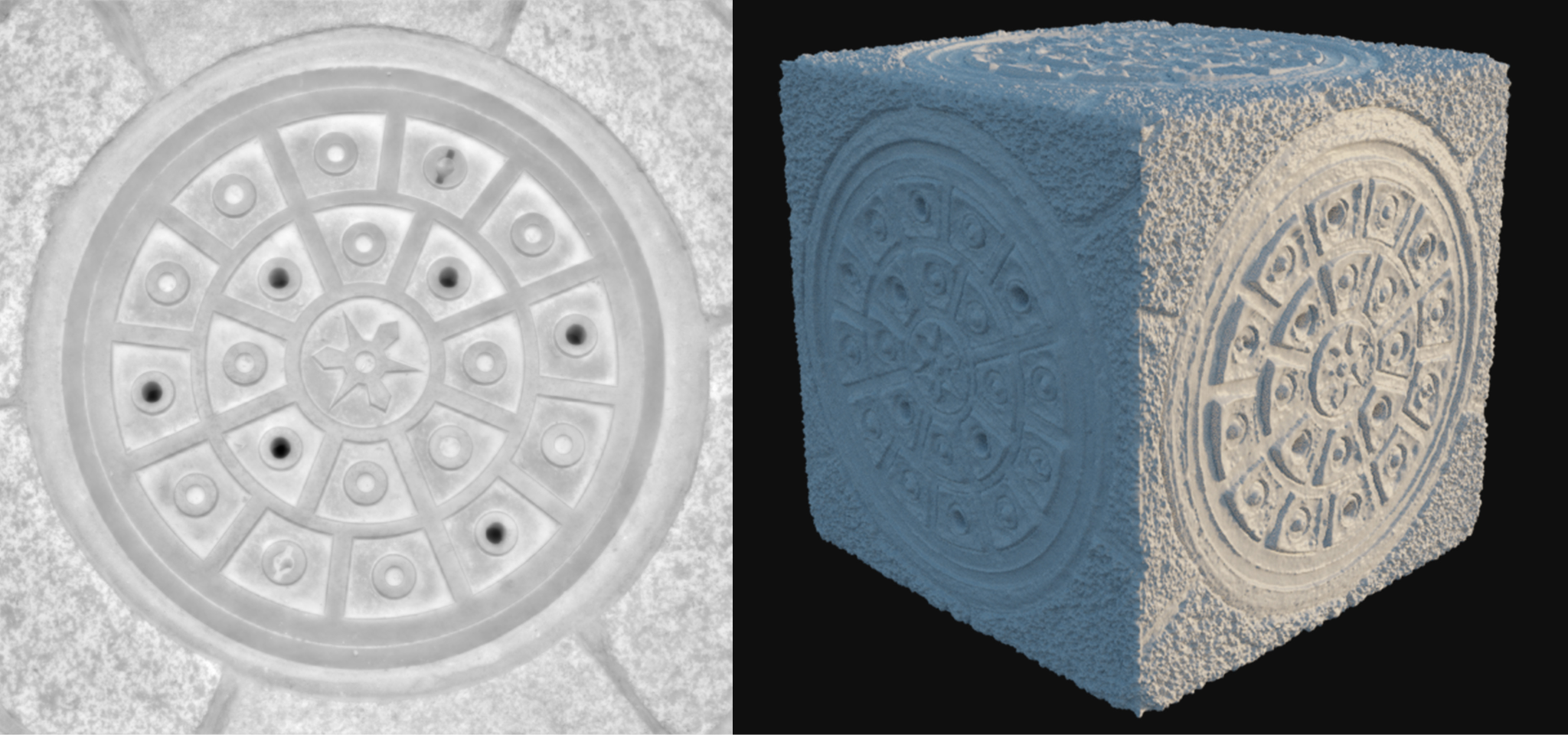 A model using displacement map